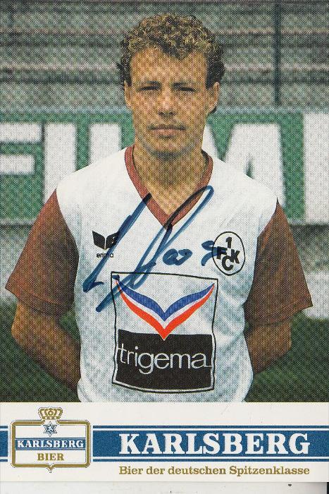 SPORT - FUSSBALL - 1.FC KAISERSLAUTERN - AXEL ROOS, Autogramm