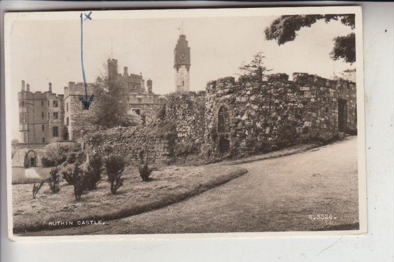 UK - WALES - DENBIGSHIRE - RUTHIN, Ruthin Castle, 1951