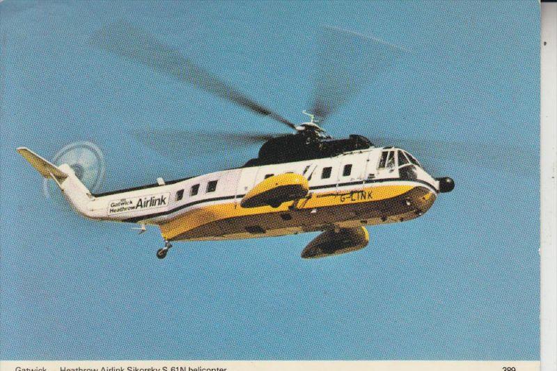 HUBSCHRAUBER / HELIKOPTER, Gatwick - Heathrow Airlink, SIKORSKY S-61 N