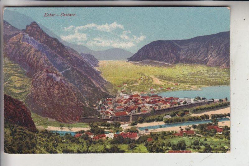 Kotor Montenegro Karte.Montenegro Kotor Cattaro Panorama Photochromie Karte