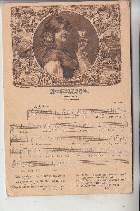 Musik - MOSELLIED Th. Reck, 1914, von koblenz nach Bolivien gelaufen
