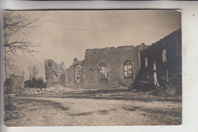 MILITÄR - 1.Weltkrieg, Zerstörungen, Photo-AK Frankreich / Belgien
