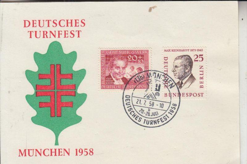 SPORT - TURNEN, Deutsches Turnfest 1958 München, Sonderpostkarte