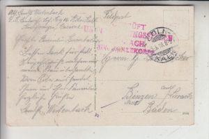 5000 KÖLN - KALK, POSTGESCHICHTE, Militär-Zensur, 1918