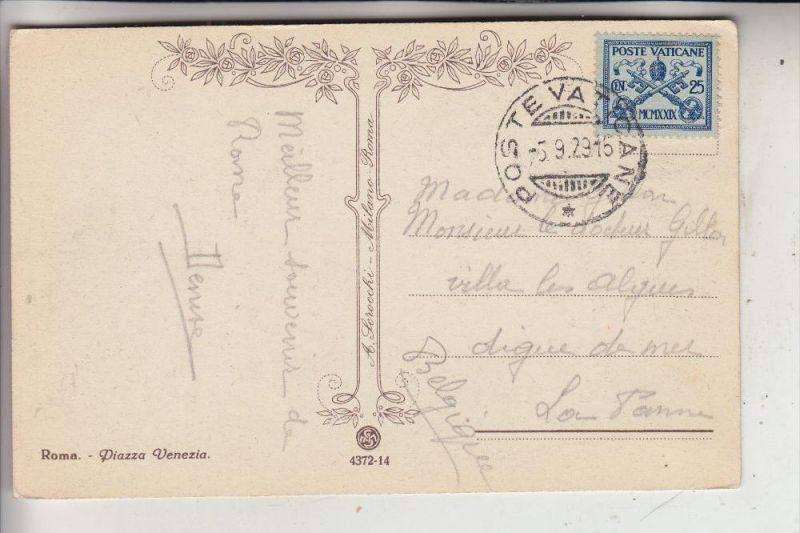 VATICAN - 1929, Michel 4, Einzelfrankatur nach Belgien