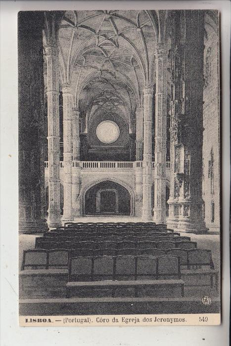 P 1000 LISBOA / LISSABON, Coro da Egreja des Jeronymos
