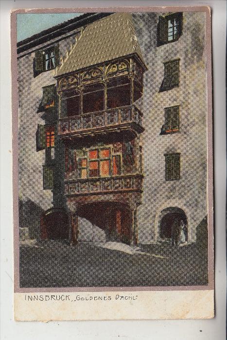 KÜNSTLER - ARTIST - MICHAEL ZENO DIEMER, Innsbruck, Goldenes Dachel, geprägt/embossed/relief