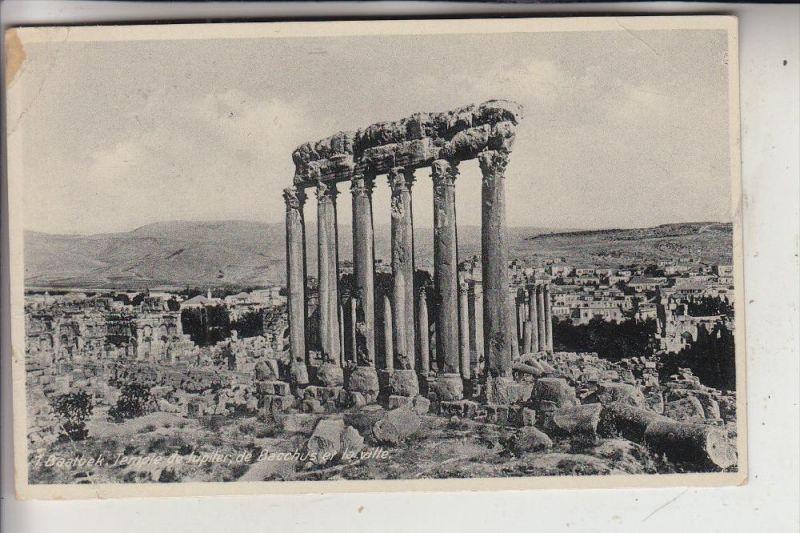 LIBANON - BAALBEK, Temple de Jupiter, 1947, kl. Knick