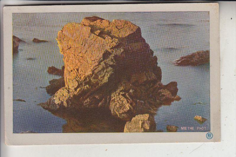 PHOTOGRAPHIE - MIETHE, Nordische Gestade, Felsblock im Abendsonnenschein