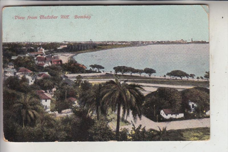 INDIA - BOMBAY, View from Malabar Hill, 1914