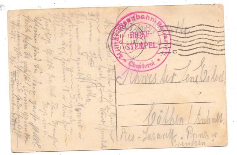 MILITÄR - 1.Weltkrieg, Feldpost 1915, Militär-Eisenbahn-Bauamt Charleroi