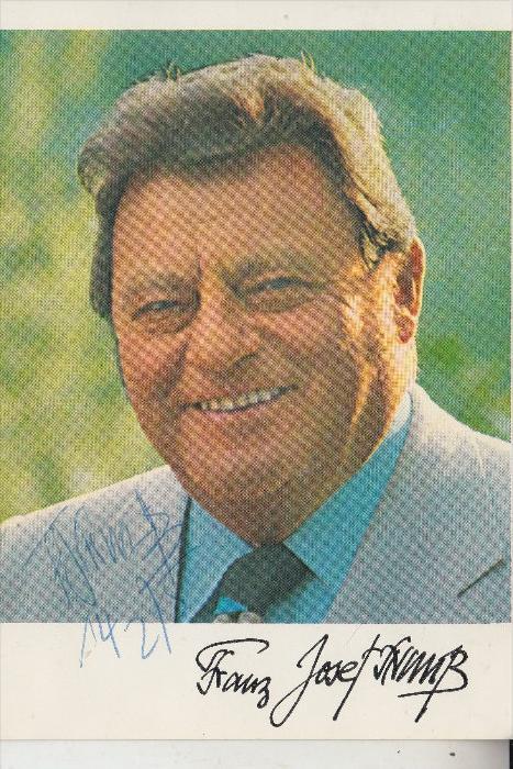 POLITIK - FRANZ JOSEF STRAUSS, Autograph 14.2.1975