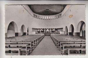 4840 RHEDA - WIEDENBRÜCK, Pius Kirche Wiedenbrück, Innenansicht, 1959, kl. Fleck