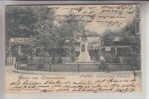 1000 BERLIN - WILMERSDORF, Denkmal Kaiser Wilhelm I, Victoria Garten, 1899
