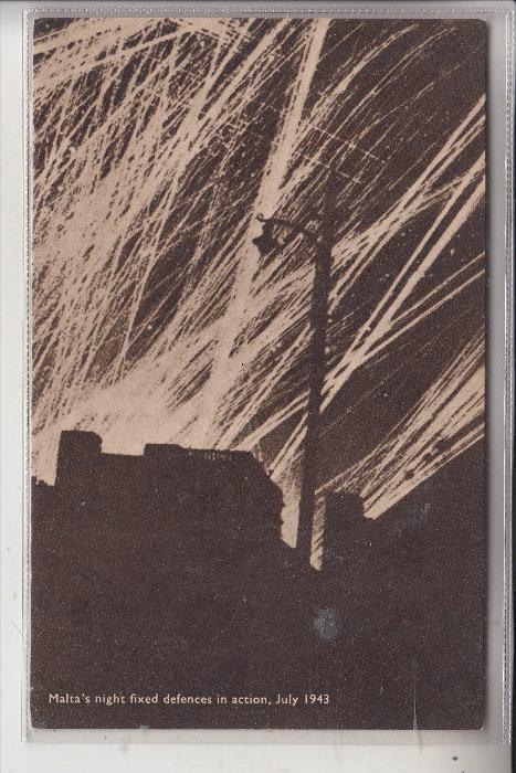 MALTA, WW II, 2.Weltkrieg, Luftabwehr 1943, Night fixed defences, Militär