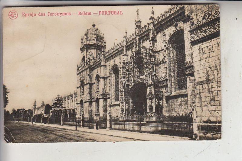 P 1000 LISBOA / LISSABON, Belem, Jeronimo-Kloster, 1919, nach Belg. kongo gelaufen