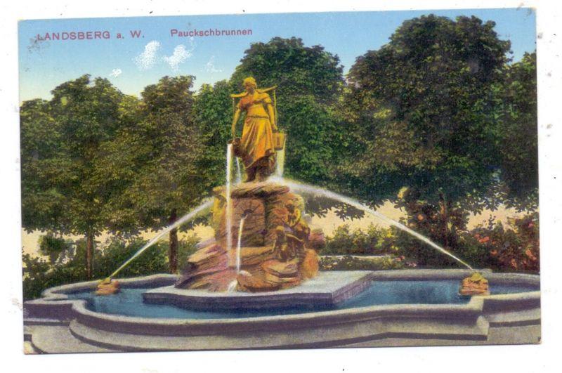 NEUMARK - LANDSBERG / Warthe - GORZOW WIELKOPOLSKI, Pauckschbrunnen