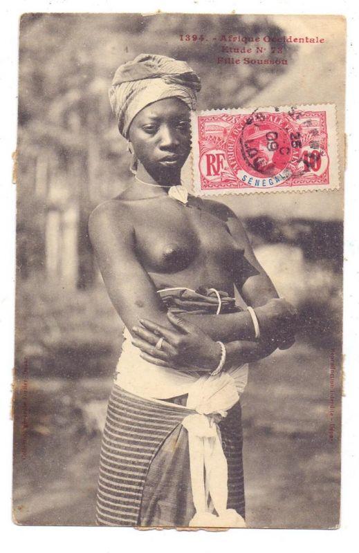 SENEGAL - Fille Sousson, 1909, Ethnic / Völkerkunde