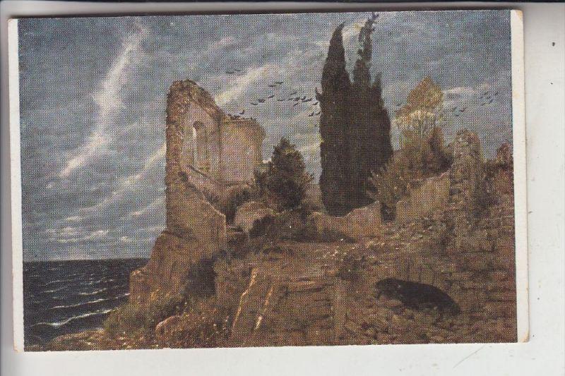 KÜNSTLER - ARTIST - ARNOLD BÖCKLIN, Ruine am Meer