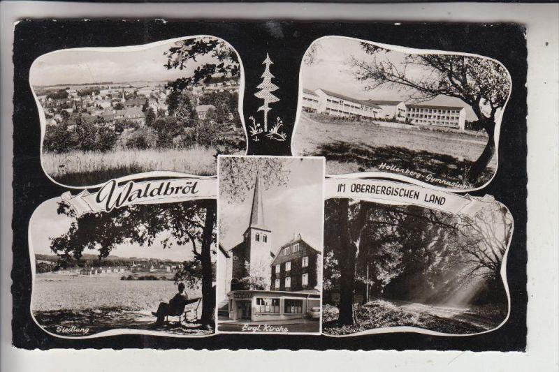 5220 WALDBRÖL, Mehrbildkarte, 1962, aptierter Stempel