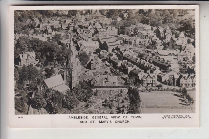 UK - ENGLAND - CUMBRIA - AMBLESIDE, General View from air