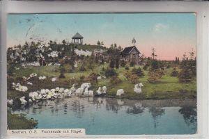 OBER-SCHLESIEN - BEUTHEN / BYTOM, Promenade mit Hügel, 1913