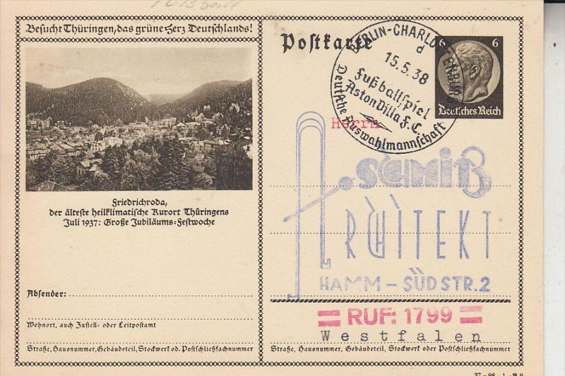 SPORT - FUSSBALL / Calcio / Football / Voetbal / Futbol / Futebol - Sonderstempel Aston Villa - Dt. Nationalmannschaft