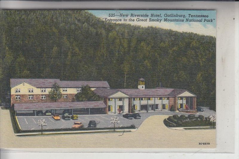 USA - TENNESSEE, Gatlinburg, New Riverside Hotel, Teich