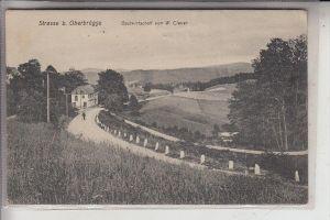 5884 HALVER - OBERBRÜGGE, Strasse bei Oberbrügge, Gastwirtschaft von W.Clever, 1914