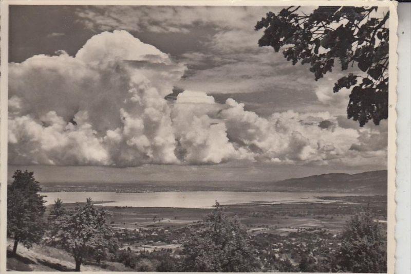 CH 9428 WALZENHAUSEN, Blick auf den Bodensee, 1958