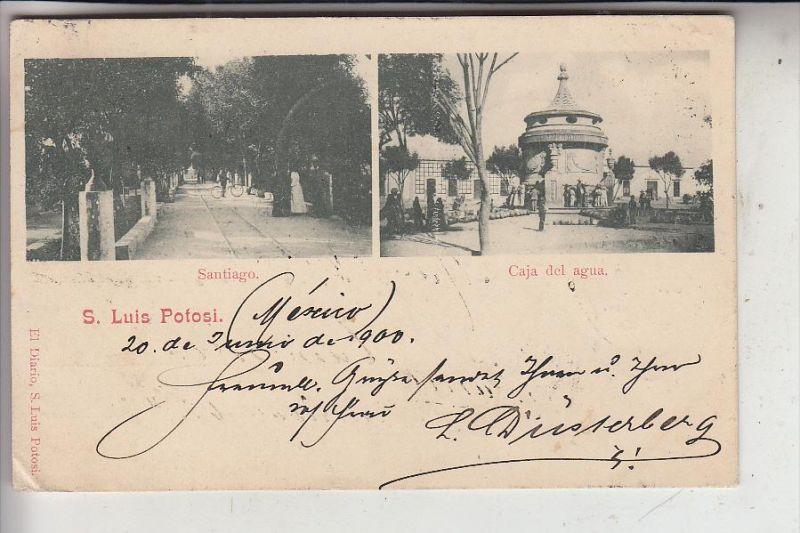 MEXICO - S. LUIS POTOSI, Santiago & Caja del agua, 1900