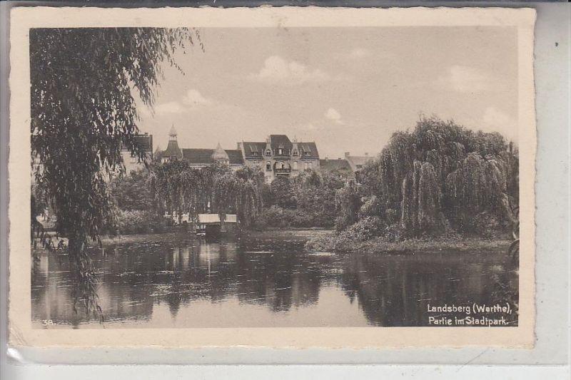 NEUMARK, LANDSBERG / Warthe, Partie im Stadtpark, 194.., Stempel Gralow über Zantoch