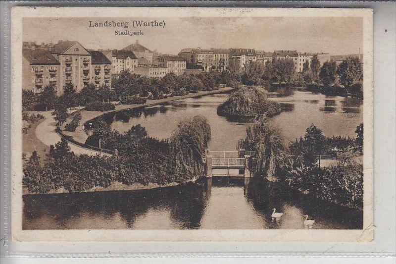 NEUMARK, LANDSBERG / Warthe, Stadtpark, 1931