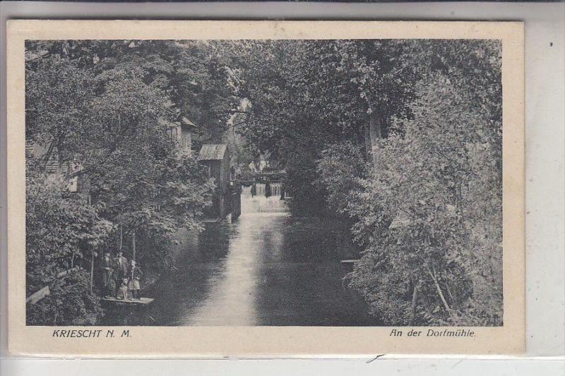 NEUMARK, KRIESCHT / KRZESZYCE, An der Dorfmühle / Watermill, Watermolen, Wassermühle, Moulin, 1928