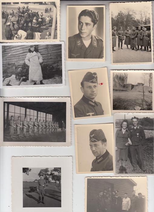 MILITÄR - 2.Weltkrieg, 21 verschiedene Kleinphotos, Konvolut aus einem Nachlaß