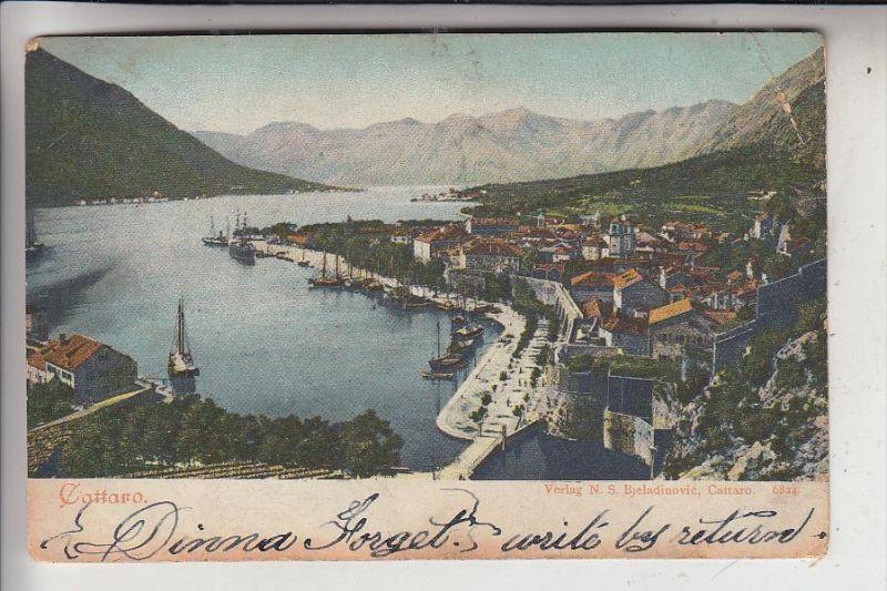 MONTENEGRO - KOTOR / CATTARO, Eckknick, von KERKYRA / Corfu verschickt