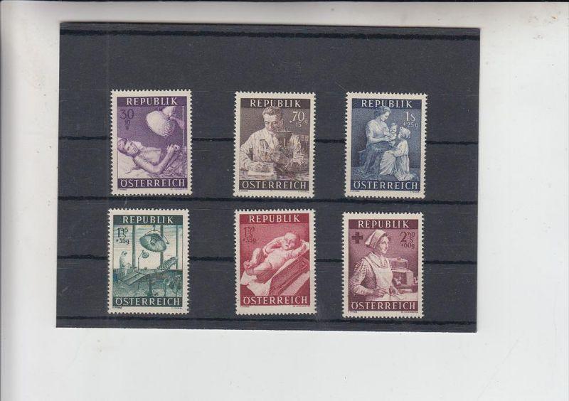 ÖSTERREICH, 1954, Gesundheitsfürsorge, Michel 999 - 1004 postfrisch