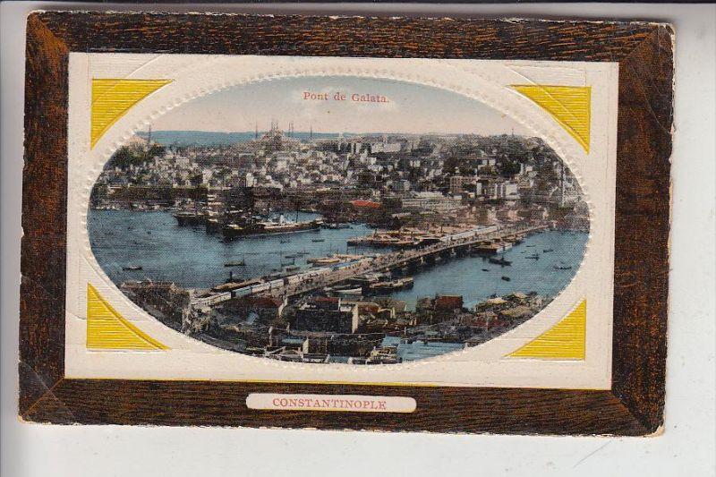 TR - ISTANBUL / Constantinople, Pont de Galata, geprägt, embossed, relief