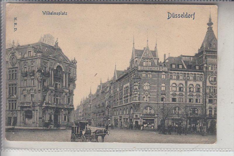 4000 DÜSSELDORF, Wilhelmsplatz, frühe Karte - ungeteilte Rückseite