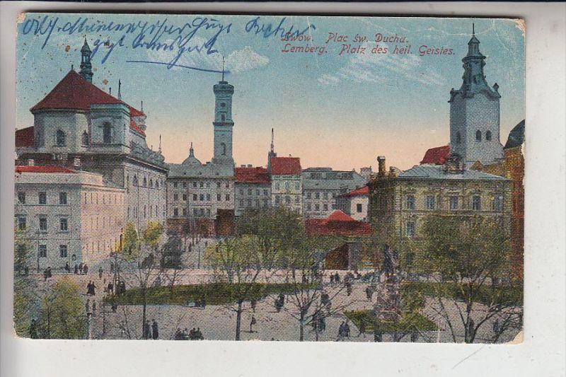 UA - 79000 LWIW / LEMBERG, Platz des heil. Geistes, 1916, Deutsche Feldpost