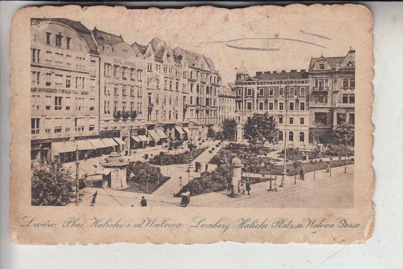 UA - 79000 LWIW / LEMBERG, Halicki Platz und Walowa Gasse, 1916