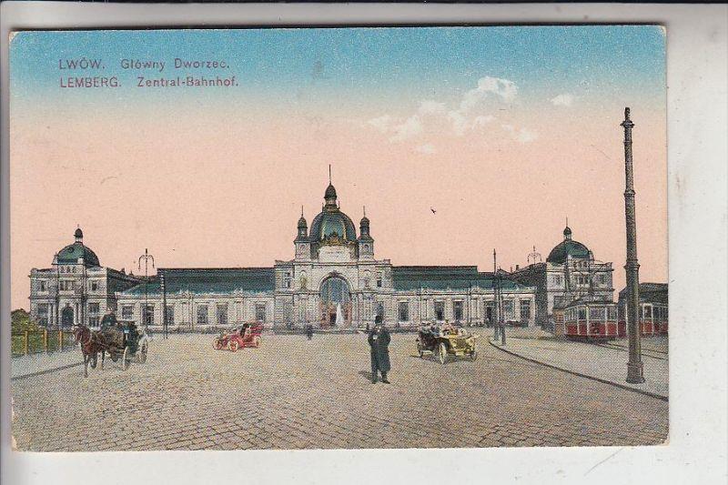 UA - 79000 LWIW / LEMBERG, Zentral-Bahnhof, 1917