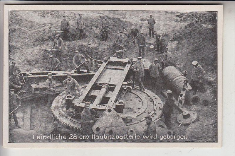 WEISSRUSSLAND - GRODNO, 1.Weltkrieg, 28 cm Haubitzbatterie japanischer Herkunft
