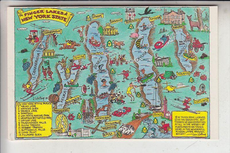 LANDKARTEN / MAPS - FINGER LAKES & NEW YORK STATE