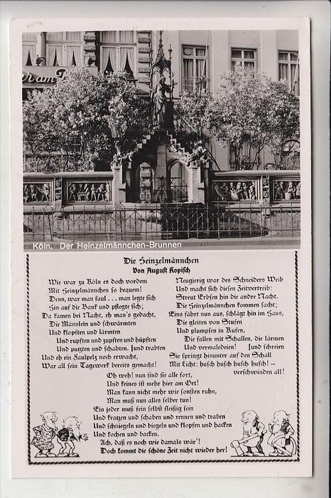 5000 KÖLN, Heinzelmännchen-Brunnen, Rheingoldserie
