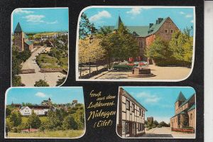 5168 NIDEGGEN, Mehrbildkarte, handcoloriert, 60er Jahre