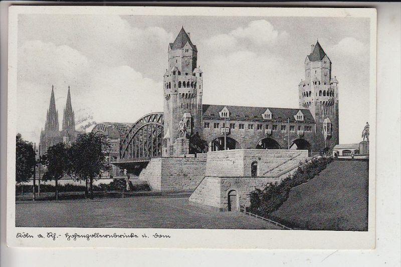 5000 KÖLN - DEUTZ, Hohenzollernbrücke, 1938