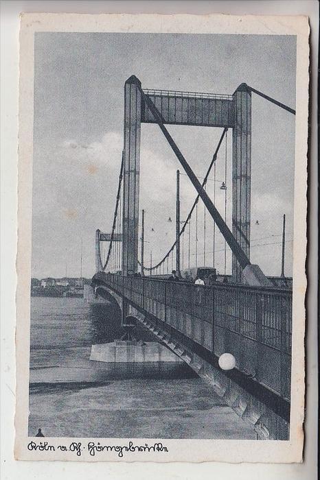 5000 KÖLN - MÜLHEIM, Mülheimer Brücke (Hängebrücke)