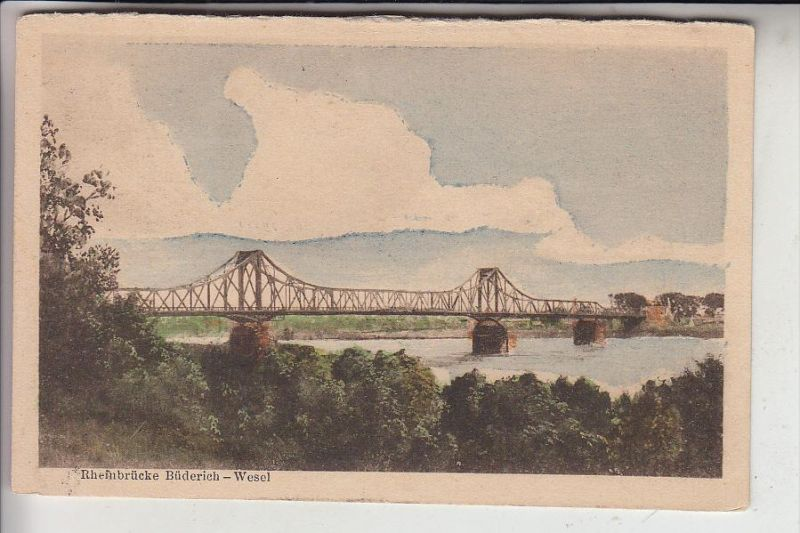 4230 WESEL, Neue Rheinbrücke Wesel - Büderich, 1922