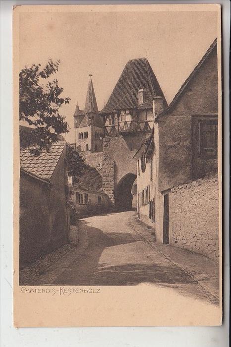 F 67730 KESTENHOLZ / Chatenois, Dorfansicht, frühe Karte - ungeteilte Rückseite